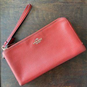 Coach wristlet/ double zip wallet